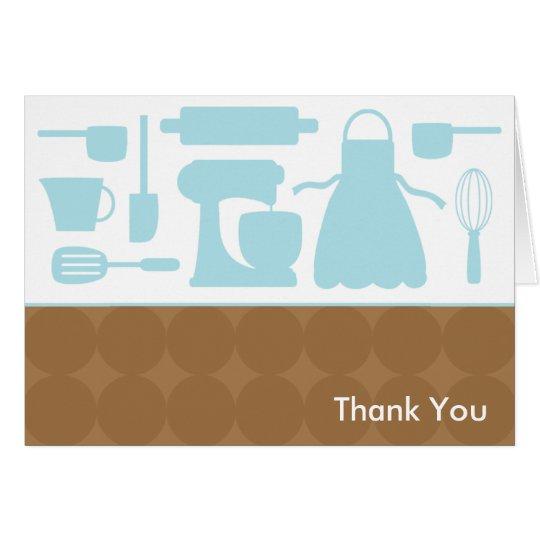 Blaue Küchen-Mitteilungskarten Mitteilungskarte