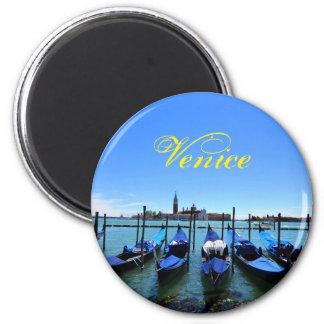 Blaue Lagune in Venedig, Italien Runder Magnet 5,1 Cm