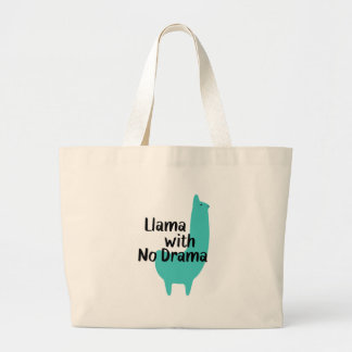 Blaue Lama-Tasche Jumbo Stoffbeutel