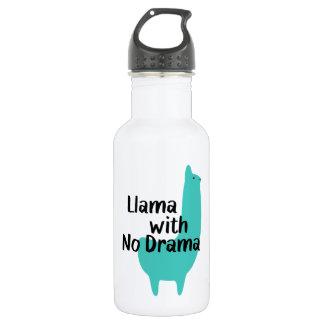 Blaue Lama-Wasser-Flasche Edelstahlflasche