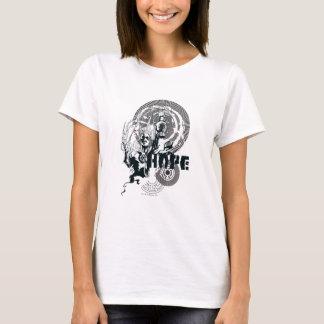 Blaue Laternen-Grafik 4 T-Shirt