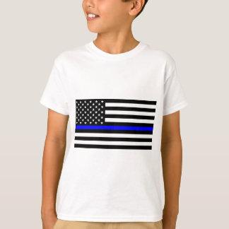 Blaue Leben-Angelegenheit - US-Flaggen-Polizei T-Shirt