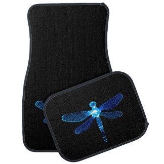 Blaue Libellen-Auto-Matten Automatte