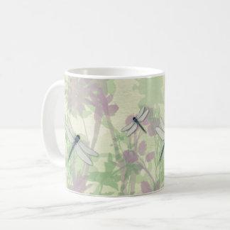 Blaue Libellen-Tasse Kaffeetasse