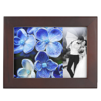 blaue lila Flieder des eleganten englischen Erinnerungsdose