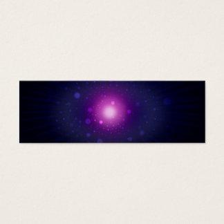 Blaue lila Raum-Galaxie hat abstraktes in der Mini Visitenkarte