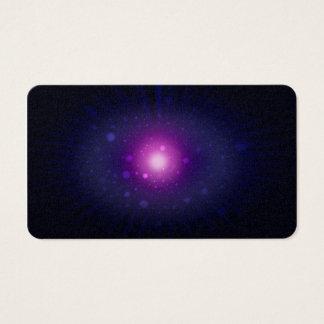 Blaue lila Raum-Galaxie hat abstraktes in der Visitenkarte