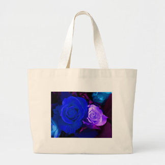 Blaue lila Rose Tasche