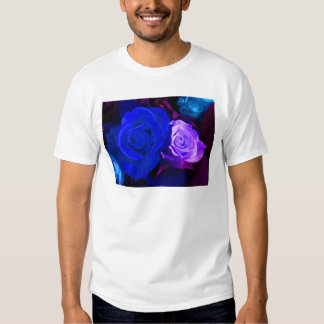 Blaue lila Rose Tshirt