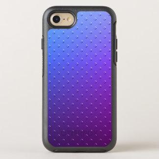 Blaue lila Steigungs-Imitat-Metallbeschaffenheit OtterBox Symmetry iPhone 8/7 Hülle