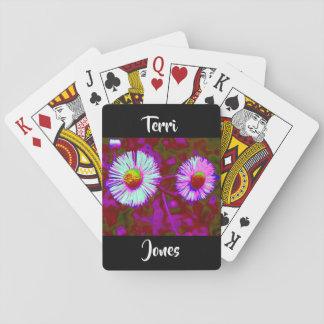 Blaue lila violette spielkarten