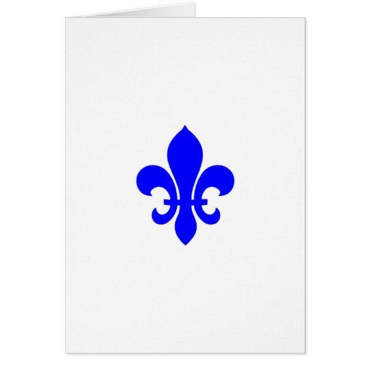 """""""Blaue Lilie"""" Geburtstagskarte Karte"""