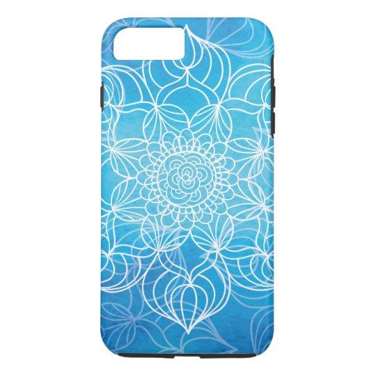 Blaue Mandala iPhone 7 Plus Hülle