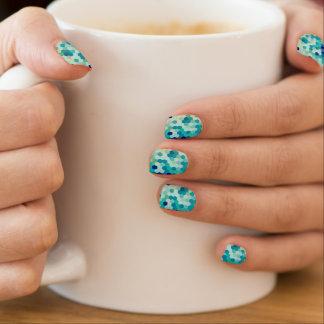 Blaue Meerjungfrau stuft den bunten mehrfarbigen Minx Nagelkunst