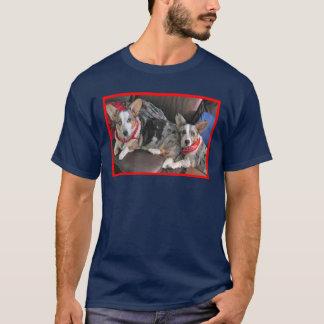 Blaue Merle Corgi-Freunde T-Shirt