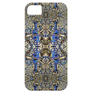 Blaue Metallschnitzel iPhone 5 Schutzhülle