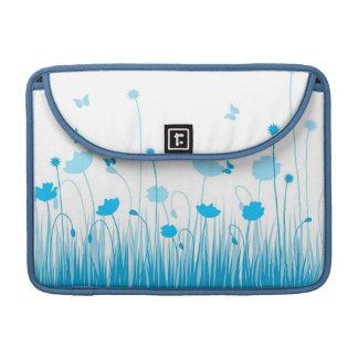 Blaue Mohnblumen Rickshaw-Klappen-Hülse Sleeve Für MacBooks