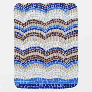 Blaue Mosaik-Baby-Decke Puckdecke
