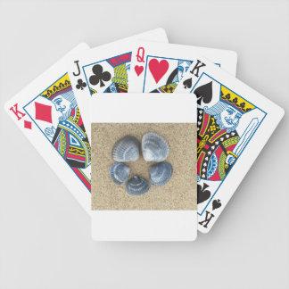 Blaue Muscheln Bicycle Spielkarten