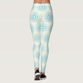 Blaue Mustergamaschen Leggings