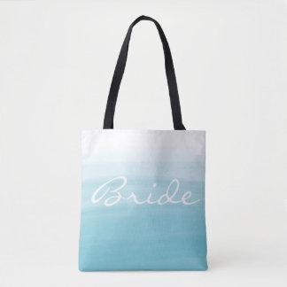 Blaue ombre Braut-Taschentasche Tasche