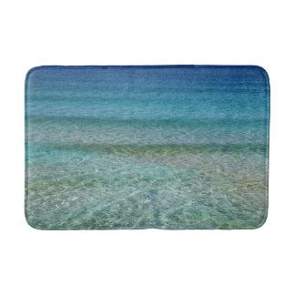 Blaue Ozean-Wasserbad-Matten-Wolldecke Badematte