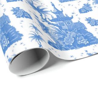 Blaue Pagode Toile durch Redux121DesignStudio Geschenkpapier