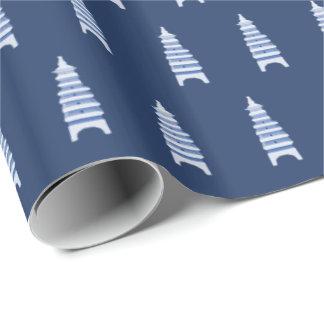 Blaue Pagoden durch Redux121DesignStudio Geschenkpapier