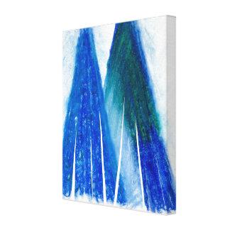 Blaue Pastellgrafik Leinwanddruck