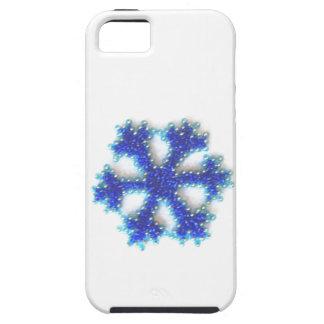 Blaue Perlen-Schneeflocke iPhone 5 Hülle