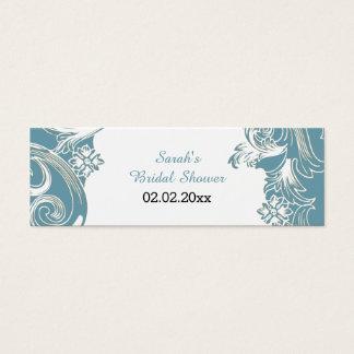 blaue personalisierte Geschenk-mit Blumenumbauten Mini Visitenkarte