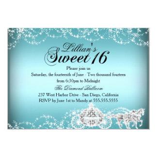 Blaue Pferde-u. Wagen-Prinzessin Sweet 16 laden 12,7 X 17,8 Cm Einladungskarte