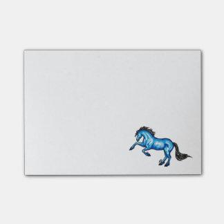 Blaue Pferdepost-itanmerkungs-klebrige Anmerkungen Post-it Haftnotiz