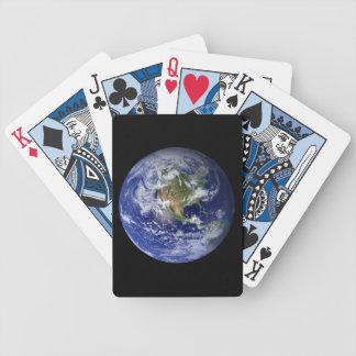 Blaue Planeten-Erde Bicycle Spielkarten