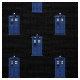 Blaue Polizei-Kasten-Gewebe-Briten-Science Fiction Stoff
