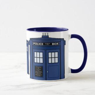 Blaue POLIZEI Kastengeek-Tassen-Tee-Zeit Tasse