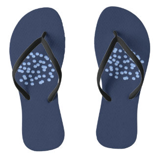 Blaue Polka-Punkt-erwachsene dünne Bügel drehen Badesandalen