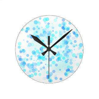 Blaue Punkt-Uhr Runde Wanduhr