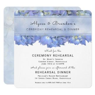 Blaue quadratische Proben-Abendessen-mit Quadratische 13,3 Cm Einladungskarte