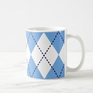 Blaue Rauten-Muster-Tasse Kaffeetasse