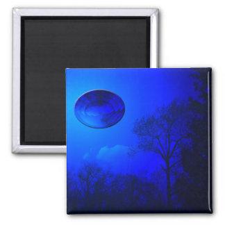 Blaue Reflexion Quadratischer Magnet