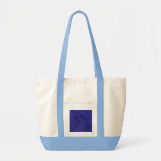 Blaue Reflexionen in hellblauem und in natürlichem Tasche