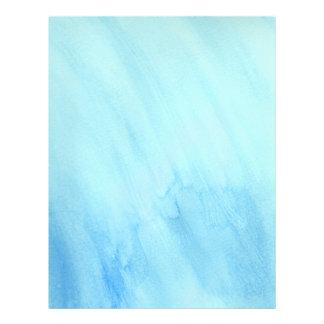 Blaue Regen-Regenwasser-Aquarell-Farbe Flyer