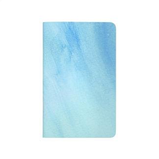 Blaue Regen-Sturm-Aquarell-Farbe Taschennotizbuch