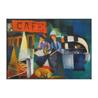 Blaue Reiter-Café-Expressionist-Kunst-Wiedergabe Leinwanddruck