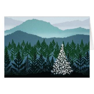 Blaue Ridge-Weihnachtsgrußkarte Karte