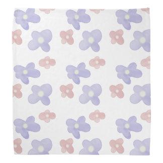 Blaue rosa Blumen auf Weiß Halstuch