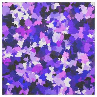 Blaue rosa lila Farben-Tarnungs-abstraktes Muster Stoff