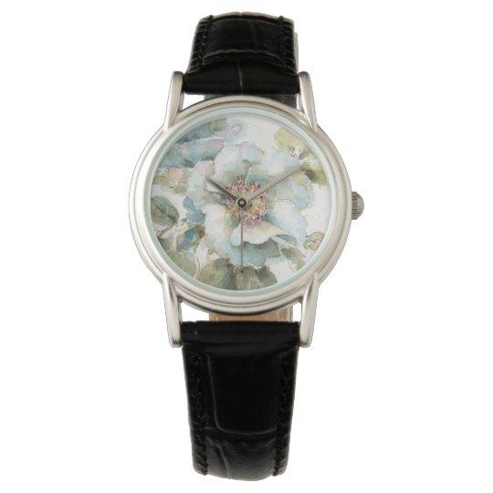 Blaue Rose Armbanduhr