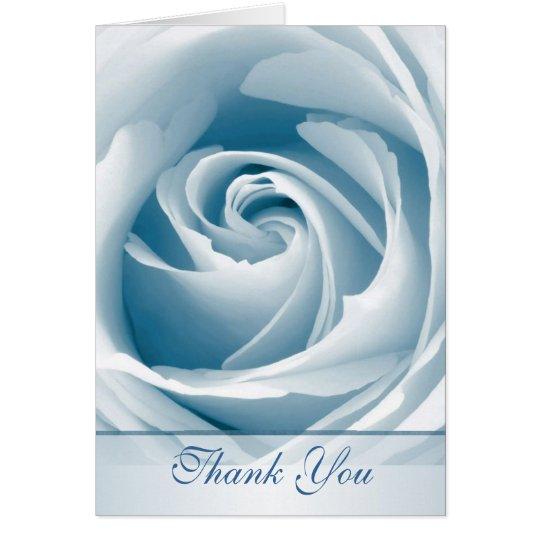 Blaue Rose danken Ihnen zu kardieren Karte